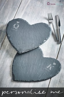 Personalised Heart Slate by Loveabode