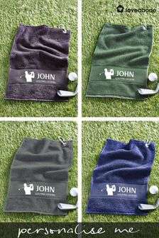 Personalised Golf Towel by Loveabode