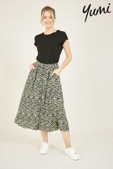 Yumi Animal Print Midi Skirt
