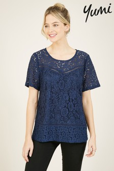 Yumi Lace Floral Top
