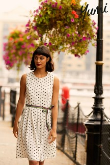 Yumi Spotted 'Carly' Skater Dress