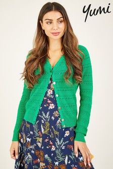 Yumi Pointelle Knitted Cardigan