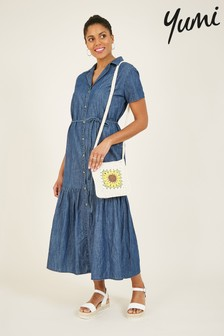 Yumi Chambray Denim 'Darcie' Maxi Dress
