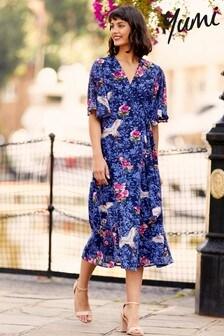 Yumi Crane Floral 'Nancy' Midi Dress