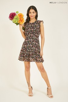 Mela London Ditsy Floral Ruffle Skirt Dress