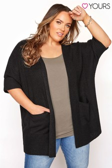 Yours Turn Up Sleeve Cardigan