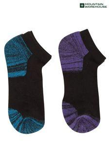 Mountain Warehouse Isocool Womens Padded Trainer Socks - 2 Pack