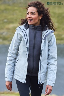 Mountain Warehouse Bracken Melange Womens 3 in 1 Waterproof and Breathable Jacket