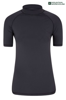 Mountain Warehouse Womens Short Sleeve UPF50+ Quick Drying Rash Vest