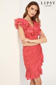 Lipsy Ruffle Wrap Dress