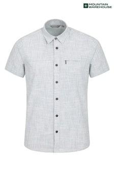 Mountain Warehouse Coconut Slub Texture 100% Cotton Mens Shirt