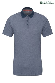 Mountain Warehouse Geo Jacquard Mens UV Protec Polo Shirt