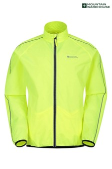 Mountain Warehouse Force Mens Reflective Water-Resistant Running and Cycling Jacket
