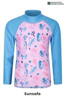 Mountain Warehouse Long Sleeved Printed Kids UV Protect Rash Vest