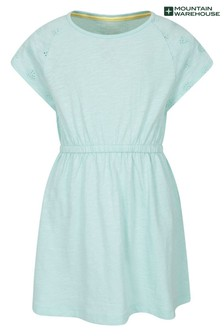 Mountain Warehouse Meadow Broderie 100% Organic Cotton Kids Dress
