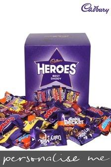 Personalised Best Daddy Cadbury Heroes Large Cube and Cadbury Heroes Best Daddy Mug by Yoodoo
