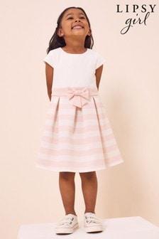 Lipsy Mini Pleated Bow Dress