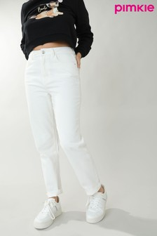 Pimkie Straight High Waist Raw Cut Jean