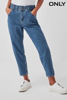 Only High Waist Stretch Waist Straight Leg Jeans