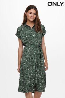 Only Midi Animal Shirt Dress