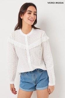 Vero Moda Broderie Frill Detail Shirt