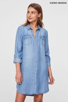 Vero Moda Denim Midi Shirt Dress