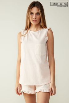 Intimissimi Soft Stripes Sleeveless Cotton Jersey Top