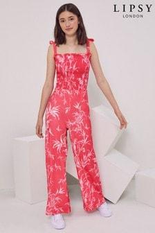 Lipsy Shirred Bodice Jersey Jumpsuit