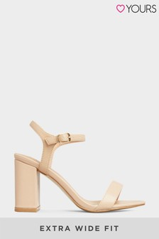 Yours Block Heeled Sandals In Extra Wide Fit