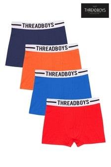 Threadboys Multi Pack 4 Assorted Trunks