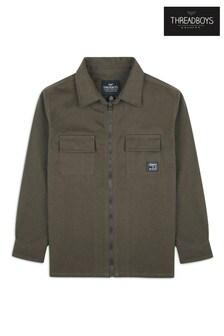 Threadboys Cotton Zip Up Long Sleeve Shirt