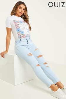 Quiz Ripped Skinny Jeans