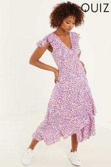 Quiz Animal Print Midi Dress