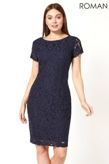 Roman Lace Fitted Dress