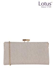 Lotus Footwear Pink Textile Clutch Bag