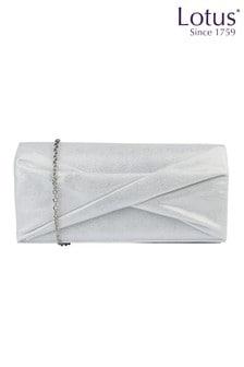 Lotus Footwear Ice Shimmer Textile Clutch Bag