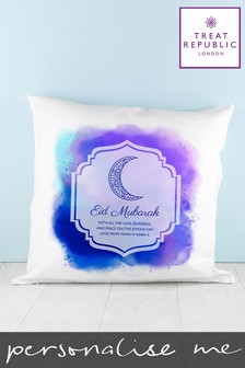 Personalised Eid Mubarak Cushion Cover By Treat Republic