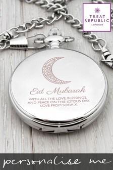 Personalised Eid Mubarak Dual Pocket Watch By Treat republic