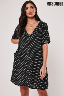 Missguided Button Through Smock Dress