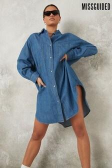 Missguided Lightweight Oversized Shirt Dress
