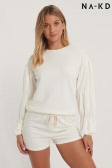 NA-KD Detailed Sleeve Sweatshirt Co-Ord