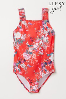 Lipsy Shirred Strap Swimsuit