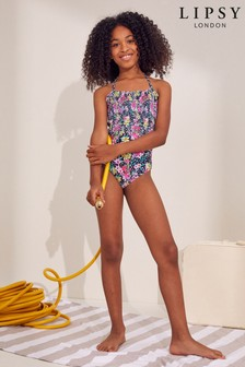 Lipsy Halter Cut Out Back Swimsuit
