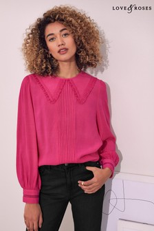 Love & Roses Collared Blouse