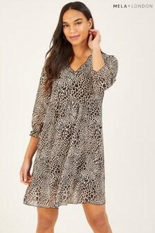 Mela London Leopard Print Tunic Dress