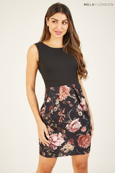 Mela London Floral Pocket Bodycon Dress