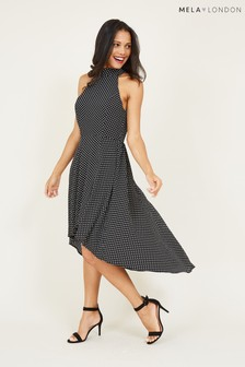 Mela London Dalmatian Print Wrap Dress