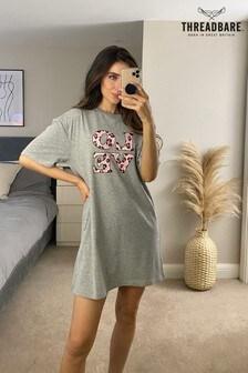 Threadbare Printed Cotton Night T-Shirt