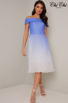Chi Chi London Bardot Ombre Pleated