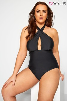 Yours Crossover Halter Swimsuit